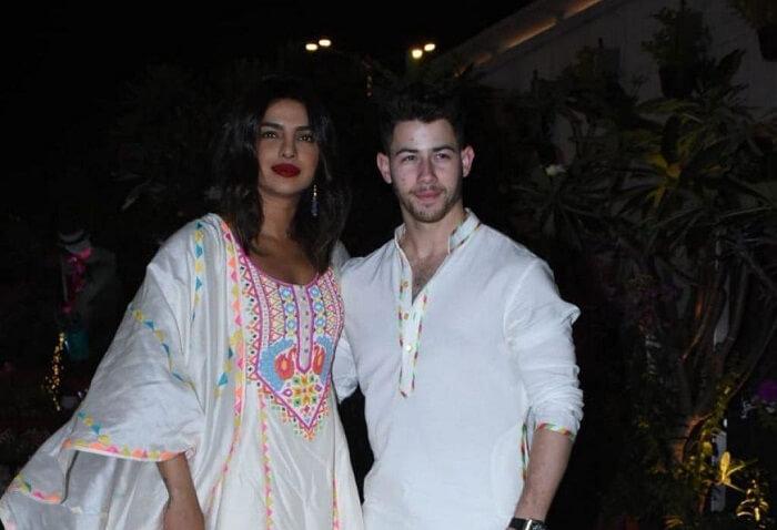 Priyanka Chopra and Nick Jonas at Ambani's Holi party