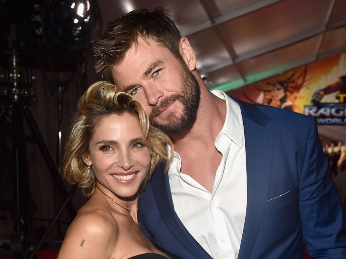 Chris Hemsworth with wife Elsa Pataky