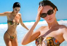 Kendall Jenner Flaunts in Tinny Bikini on the Beach