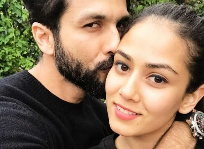 Shahid Kapoor with wife