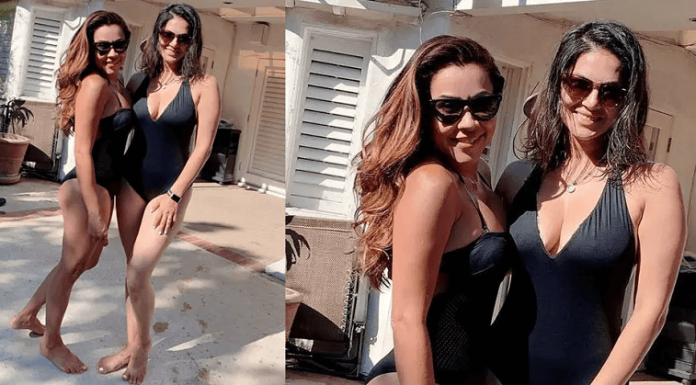 Sunny Leone Enjoys the Pool on Hot Los Angeles Day