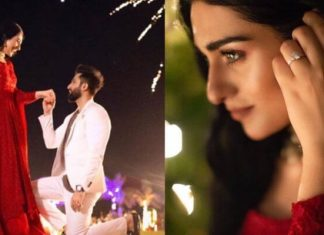 Pakistani Actress Sarah Khan Gets Engaged to Singer Falak Shabbir