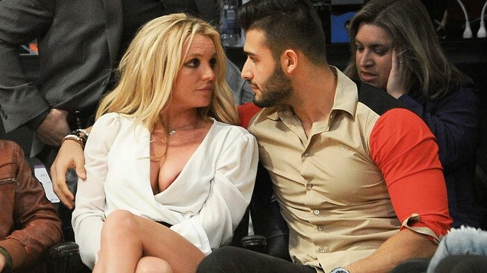 Britney Spears with Boyfriend