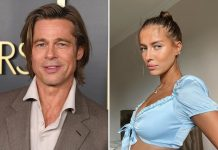 Brad Pitt's rumored Girlfriend Poses Braless on Angelina's Wedding Venue